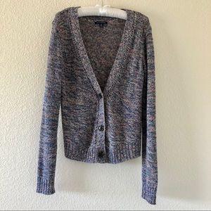 American Eagle Multicolor Knit Cardigan Medium